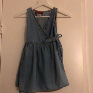 Denim Girls Wrap Dress